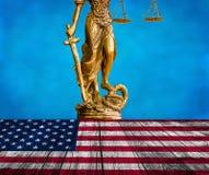 Amerikansk lag och beställning royaltyfri bild