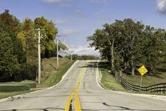 Amerikansk landsasfaltväg Arkivbilder