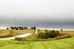 amerikansk landsväg Arkivfoto