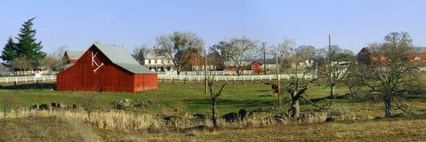 amerikansk lantgård Arkivfoto