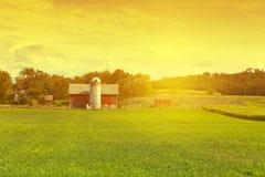 Amerikansk lantgård Royaltyfri Foto