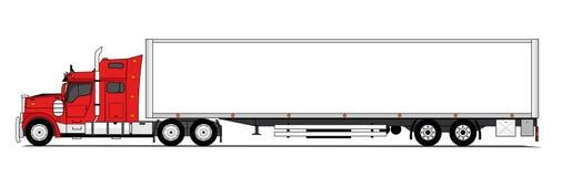 amerikansk lastbil Royaltyfria Bilder