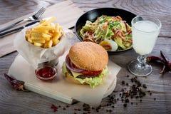 Amerikansk lunch Royaltyfri Foto