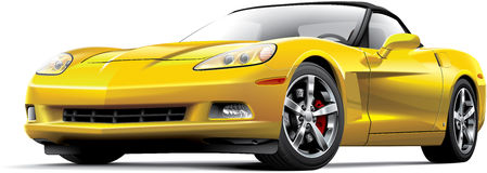 Amerikansk lyxig sportbil Arkivfoton