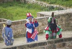 Amerikansk maskering carneval venice royaltyfria bilder
