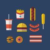 amerikansk mat Royaltyfri Bild