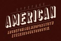 Amerikansk moderiktig design för tappningskärmstilsort, alfabet, stilsort vektor illustrationer
