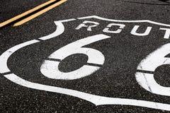 Amerikansk moderväg Route 66 Arkivbilder