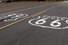 Amerikansk moderväg Route 66 Fotografering för Bildbyråer