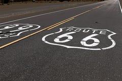 Amerikansk moderväg Route 66 Arkivbild