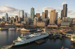 Amerikansk motorväggenomskärning för flyg- fotografi Arkivfoton