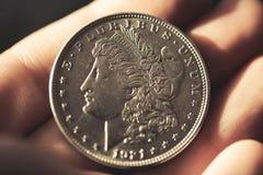 amerikansk myntdollar en Arkivbilder