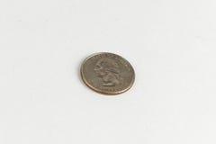 amerikansk myntdollar en - fjärdedel Arkivbild