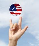 Amerikansk nationsflaggaförälskelsefjärdedel av Juli Royaltyfria Bilder