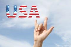 Amerikansk nationsflaggaförälskelsefjärdedel av Juli Arkivfoton