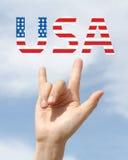 Amerikansk nationsflaggaförälskelsefjärdedel av Juli Royaltyfri Bild