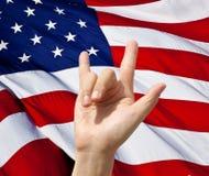Amerikansk nationsflaggaförälskelsefjärdedel av Juli Fotografering för Bildbyråer