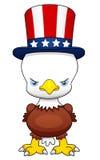 Amerikansk patriotisk örn för tecknad film Royaltyfri Bild