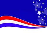 Amerikansk patriotisk abstrakt bakgrund Royaltyfria Bilder