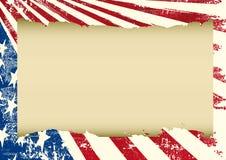 Amerikansk patriotisk horisontalskärm Royaltyfria Bilder