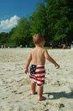 amerikansk pojke Arkivbilder