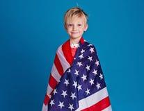 amerikansk pojke Arkivbild