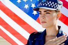 amerikansk polis Fotografering för Bildbyråer