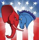amerikansk politik vektor illustrationer
