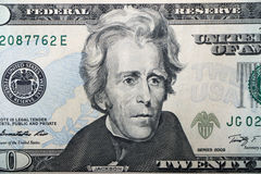Amerikansk räkning $20 Arkivbilder
