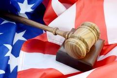 Amerikansk rättsligt system royaltyfria bilder