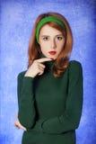 Amerikansk redheadflicka. Royaltyfria Bilder