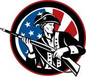 amerikansk revolutionär soldat Arkivfoto