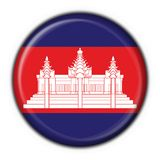 amerikansk rund knappcambodia flagga royaltyfri illustrationer