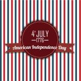Amerikansk självständighet Royaltyfri Bild