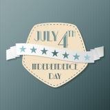 Amerikansk självständighetsdagenillustration Royaltyfria Bilder