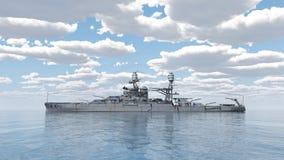 Amerikansk slagskepp av världskrig 2 royaltyfri illustrationer