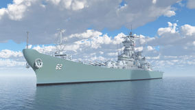 Amerikansk slagskepp av världskrig II stock illustrationer