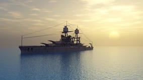Amerikansk slagskepp av världskrig II vektor illustrationer