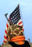 amerikansk soldat Fotografering för Bildbyråer