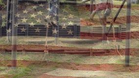 Amerikansk soldat som klättrar rep arkivfilmer