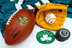 Amerikansk sportutrustning Royaltyfri Foto