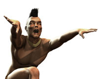 amerikansk stam- dansinföding stock illustrationer