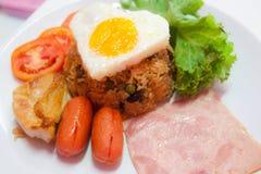 amerikansk stekt rice Fotografering för Bildbyråer
