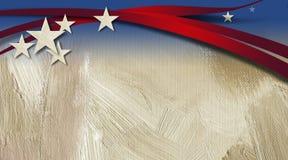 Amerikansk stjärnor och bandbakgrund Royaltyfri Foto