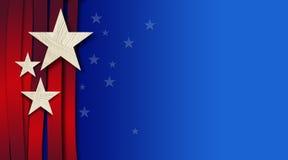 Amerikansk stjärnor och bandbakgrund Royaltyfria Bilder