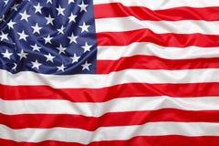 Amerikansk stjärnor och bandflaggabakgrund Royaltyfria Foton