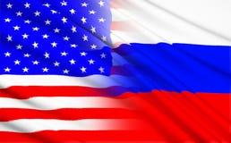 Amerikansk stjärnor och bandflaggabakgrund Arkivfoto