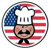 amerikansk svart flagga för kockcirkelframsida över vektor illustrationer
