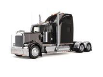 amerikansk svart lastbil Royaltyfri Foto