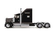 amerikansk svart lastbil Royaltyfri Bild